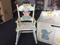 Toy box with chair