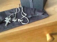 Unwanted gift. Armani three pendant men's chain. Still in box . No receipt.