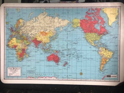 Kids desk map home garden gumtree australia free local classifieds retro world map desk table top only gumiabroncs Choice Image
