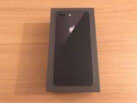 Black iphone 8 plus 64Gb new space grey