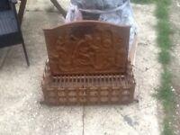 Old cast iron grate / basket