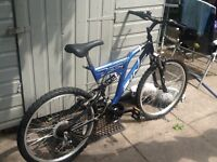 Blue mountain bike in good working order £40 can deliver for petrol cost