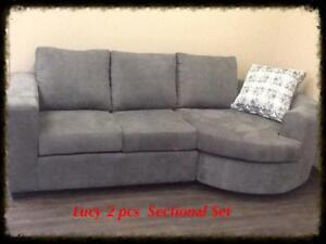SALE ON NOW CANADIAN MADE CONDO SECTIONAL WITH BUMPER CHASIE JUST $799