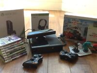 Xbox 360 4GB/Go, Kinect, headset, Disney Infinity & 8 Games