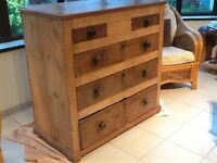 Antique chest of drawers, cottage design