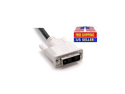 NEW 5FT DVI Male to Male DVI-D Single Link 18+1 Pin Computer Monitor PC Cable Dvi Male Single Link