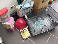 Hamsters cage and many items