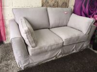 New Furniture Village Grey Fabric Sofa 2 Seater Sofa Delivery Available