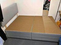 Brand New Double Divan Bed Base with Headboard !! Mattress (Optional)