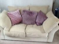 Colin and Hayes 2 X 2 seater sofas cream material