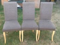 3 Dining /Kitchen Chairs