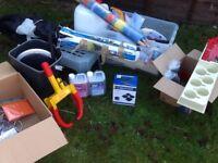 Camping/caravan/trailer accessories. Job lot.