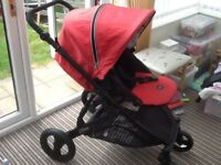 Britax b dual pushchair, cosy toes and rain over