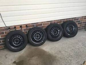 """15"""" Chaser Wheels 4 Stud 4x108 Brigestone 195/50/15 Shellharbour Shellharbour Area Preview"""