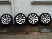 For Sale: Genuine 17 inch 5x112 VW Scirocco III Long Beach alloys and tyres