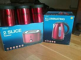 Toaster kettle and jars