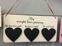 Weight loss chalk board / tracker