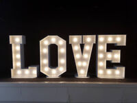 Giant 4ft/2ft light up Letters and numbers