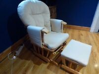 Glider Nursing Chair and Stool