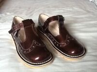 Lovely ladies leather size 7 T-bar kickers. Almost new - worn just once.
