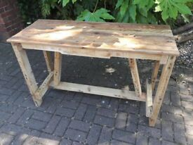 Brand new rustic hallway table. Manufactured from good quality reclaimed timber.