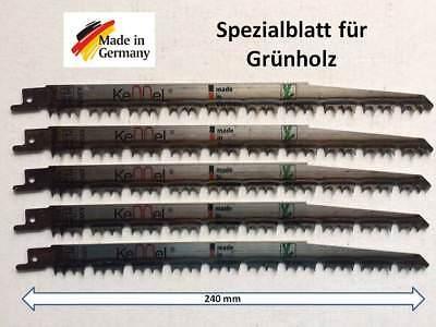 5 HCS Sägeblatt für Tigersäge Säbelsäge Säbelsägeblätter f. Grünholz Holz