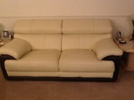 Sofas Itallian leather 2 and 3 seater with adjustable head rests