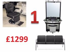 BARBER CHAIRS / FURNITURE BUNDLES / MIRRORS / WORKTOPS / WAITING CHAIR / SALON CHAIRS