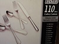 BRAND NEW Bistro 110 piece Stainless Steel Cutlery Canteen