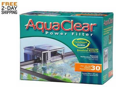 AQUA CLEAR POWER FILTER 30 FISH TANK AQUARIUM 10 to 30 US Gallons NEW Free 2 Day