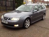 2007 saab 9-3 vector tid sport estate long mot 2 x keys BARGAIN!!!!!