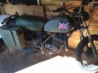 Can am ex British Army motorcycle restoration project