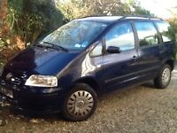 VW Sharan 7 seater family car, tow bar, roof rack, plus 2 x winter tyres 2001 mileage 138,400