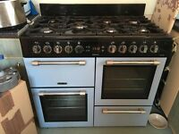 Blue Leisure Range Cooker 2 x Electric Ovens 1 Electric Grill and 7 Gas Burners