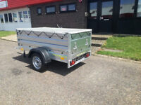 Double side trailer box camping scooter car 7ft x 4ft + FLAT COVER