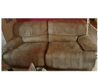 * FREE * must go - 3 Seater Recliner Sofa Settee