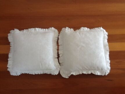 Cream Cotton Fabric Cushions x 2 Taren Point Sutherland Area Preview
