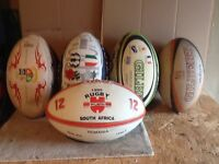 FIVE GILBERT RUGY BALLS FOR SALE. Unused condition