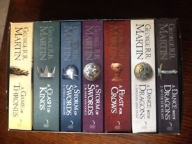 """7x game of Thrones book set - """"A Song of Ice and Fire"""" by George R R Martin"""