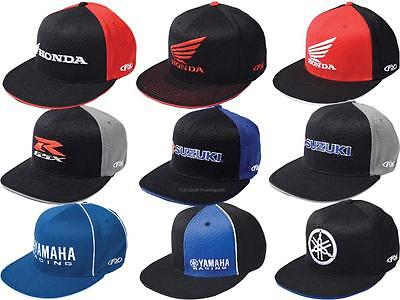 FX Mens Guys FlexFit Hat Ball Cap Japanese Motorcycle Brands Honda GSXR Yamaha Man Ball Cap