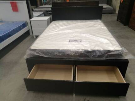 Brand New Quality  PU Bed With 4 Big Drawers in Double/Queen
