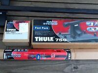 Genuine THULE: roof bars-761 foot pack-750 fix kit 1007