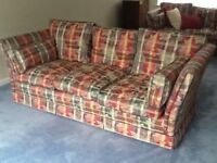 3 seater sofa (2 available, can be sold separately). Good condition. Fire retardant. Quality built.