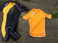 Wetsuit and rash top