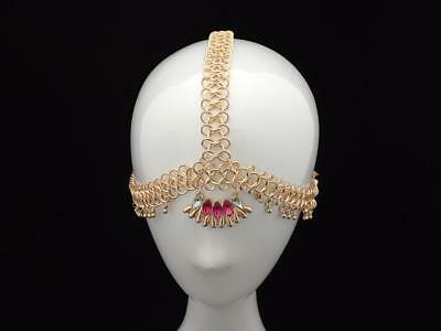 GOLD DIAMANTE BRIDAL WEDDING HEADBAND BINDI BOHEMIAN TIARA - Bindi Headband