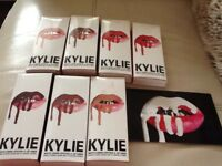 Kylie lip gloss and liners .