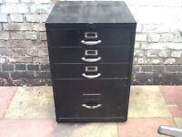 4 drawer vintage file cabinet