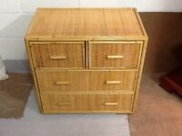 Bedroom wicker chest of drawers