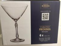 Crystalite Bohemia Martini Glass Proxima Collection (Brand New/Unused)