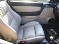 vauxhall astra convertible leather seats